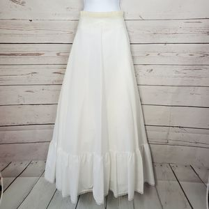 VINTAGE white tulle layered slip petticoat XS/S
